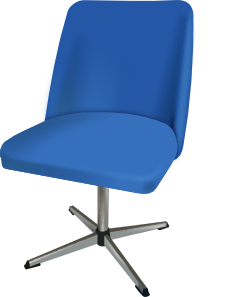 Working vector office desk. Furniture and chair clipper