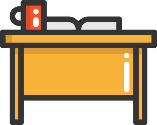 Working vector office desk. Meeting icon png and