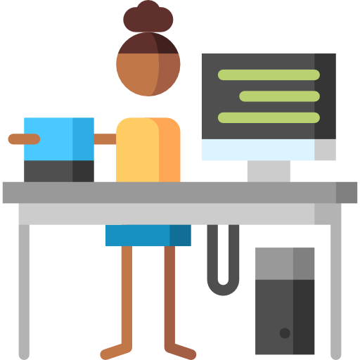 Working vector programmer. Free icon designed by
