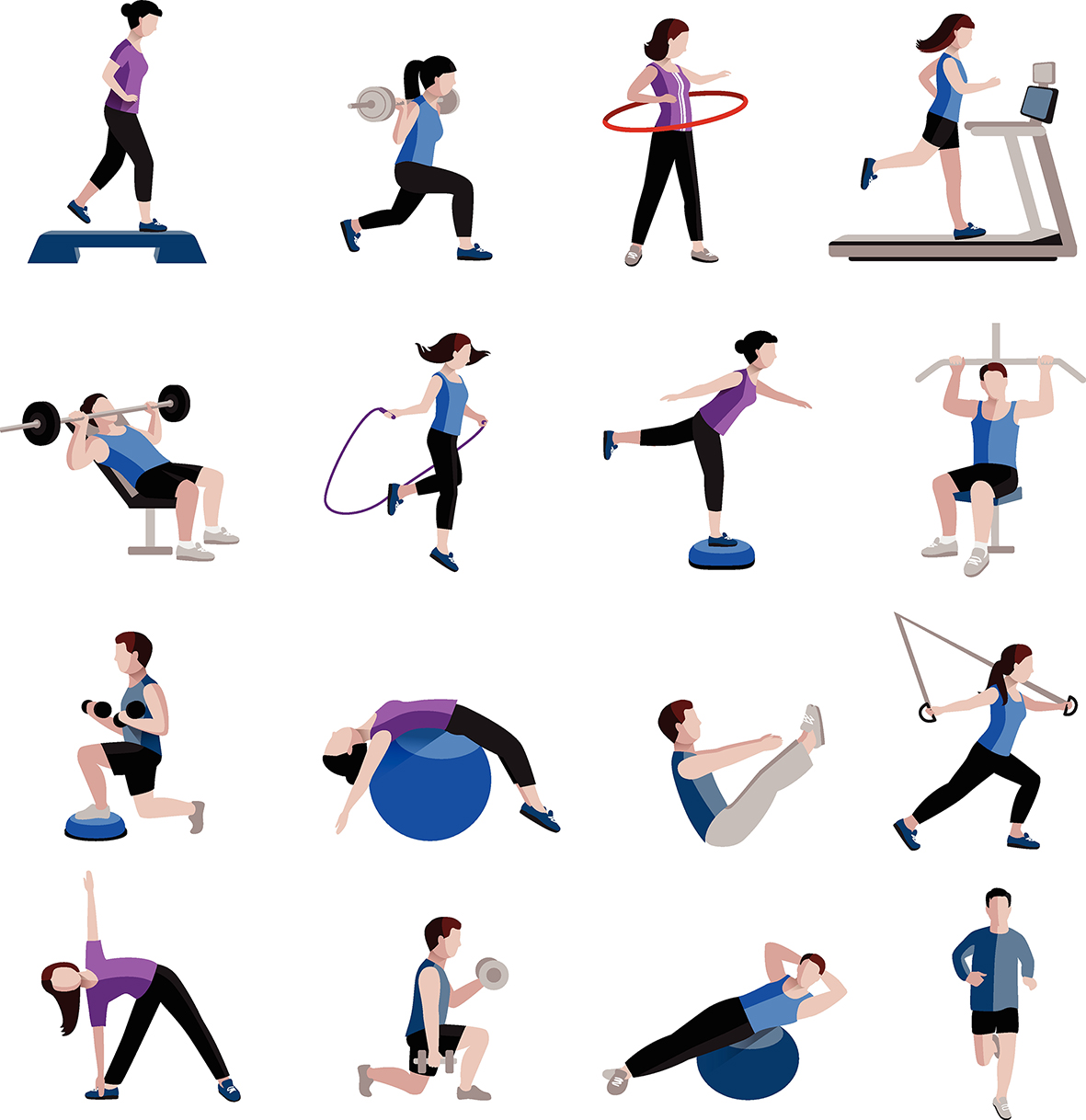 Workout clipart moderate exercise. Top fitness trends of