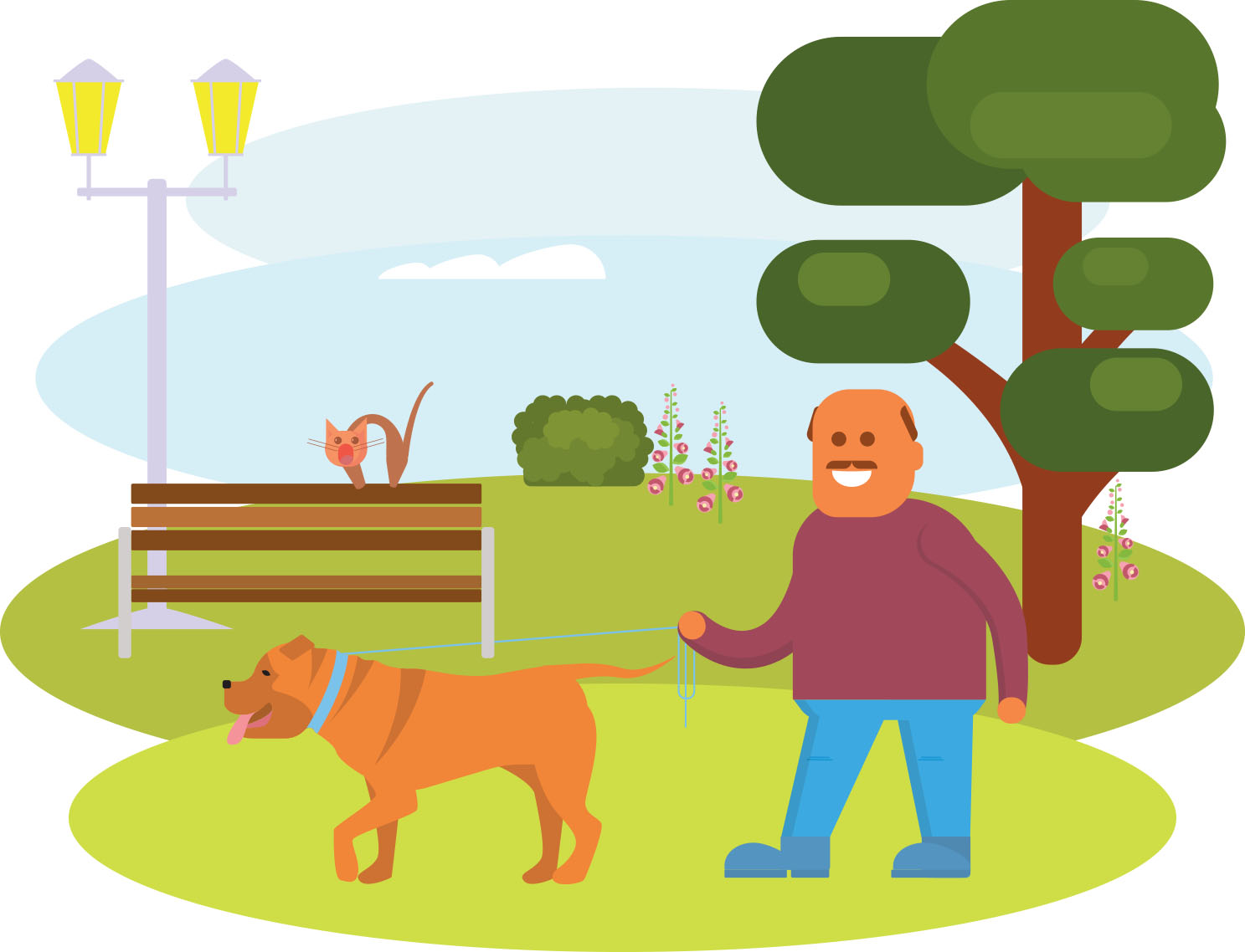 Workout clipart moderate exercise. Walking the dog yes