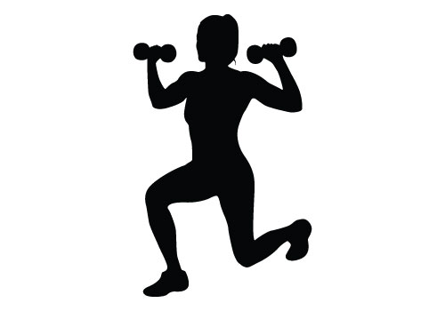 Workout clipart muscle. Silhouette at getdrawings com