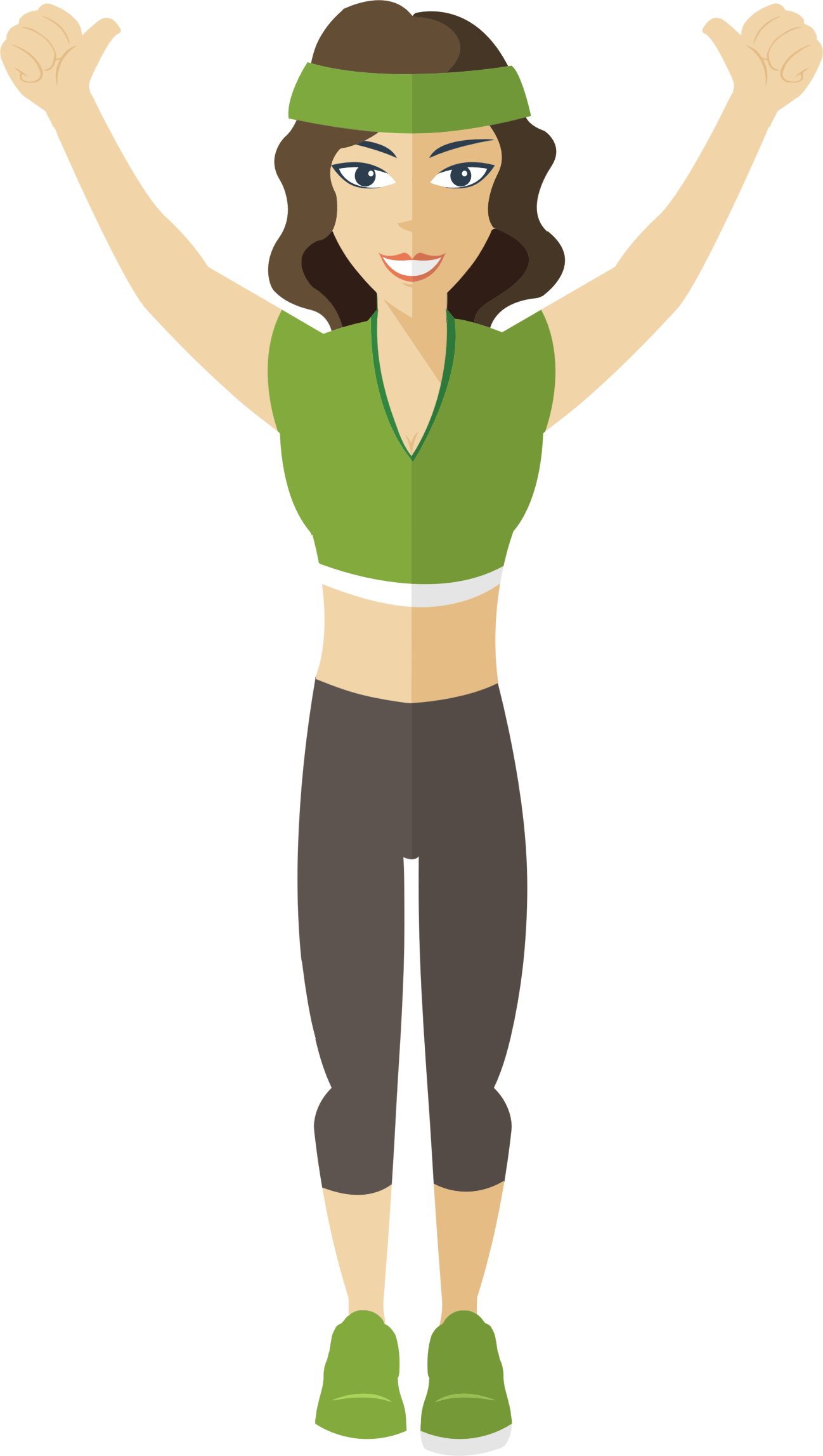 Workout clipart muscle. Female fitness great free