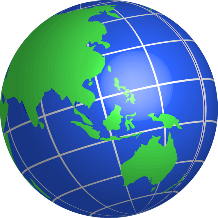 Indonesia vector globe. World map earth free