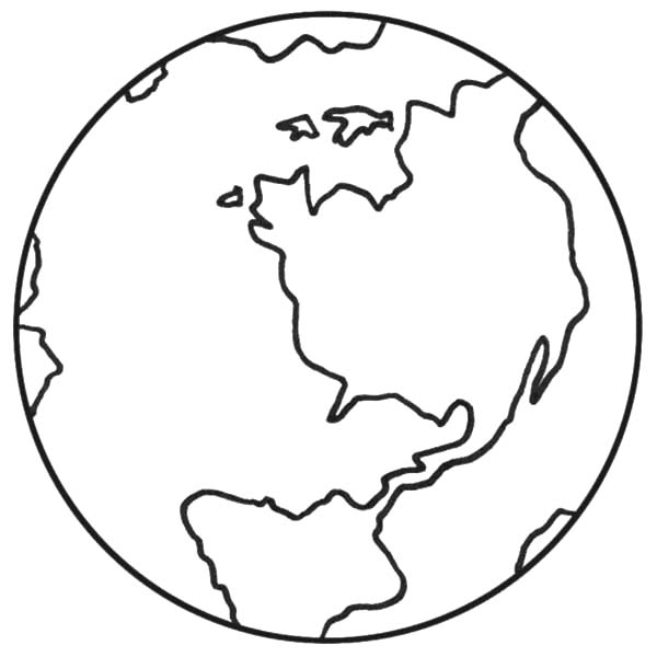 World clipart coloring. Earth drawing for kids