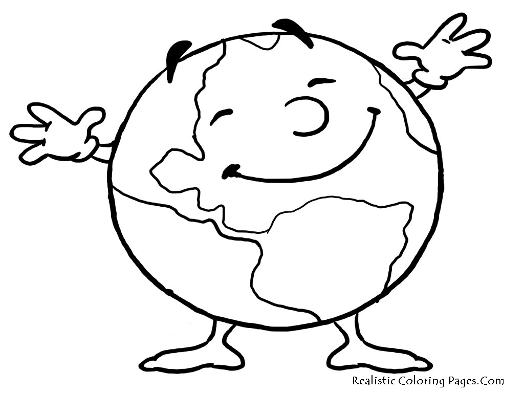 World clipart coloring. Planet drawing for kids