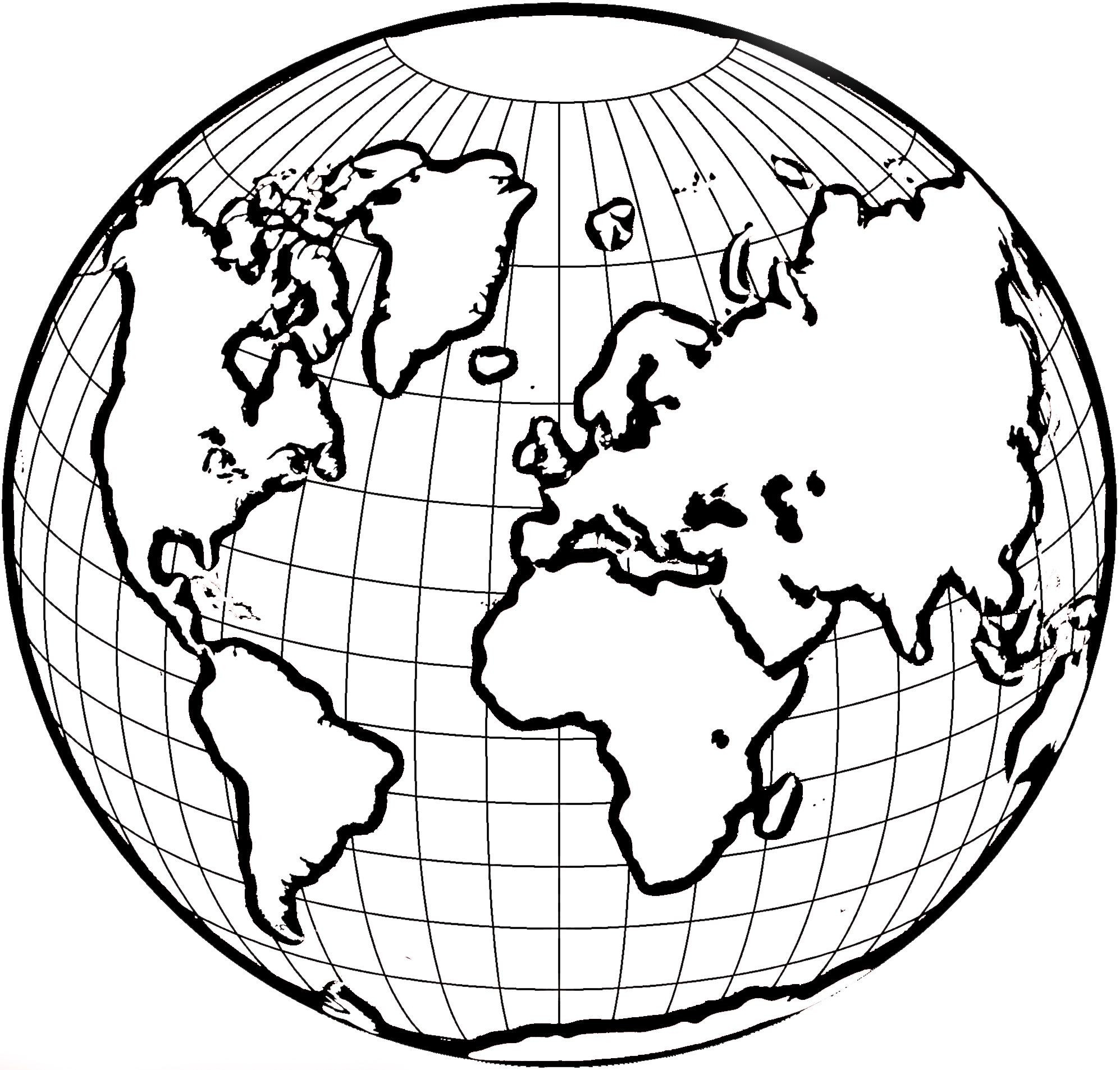 World clipart coloring. Map blank color new