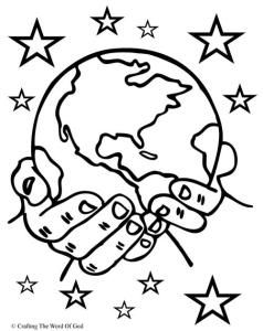 World clipart creator god. The creation coloring page