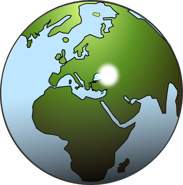 World clipart globe africa. Middle east and map