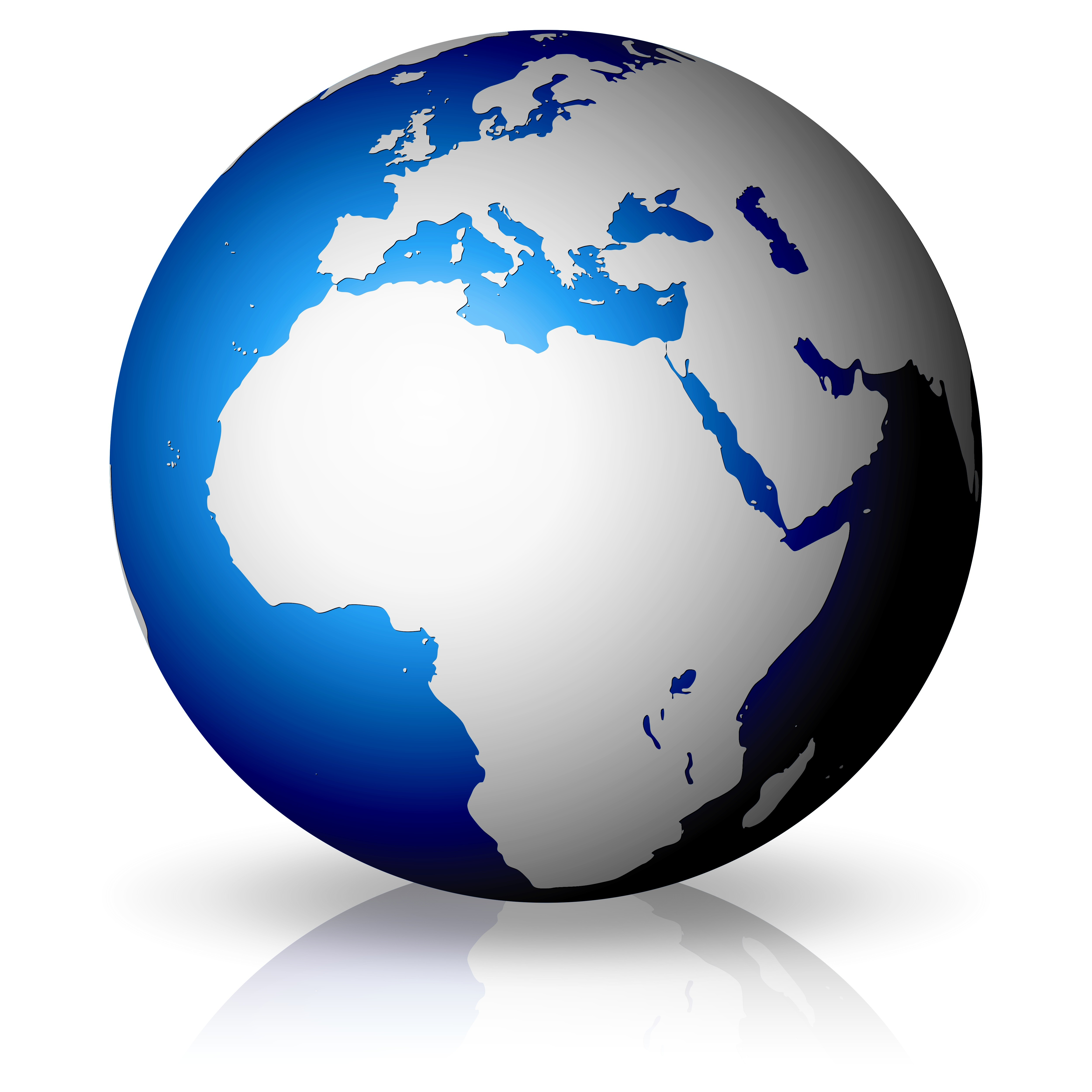 World clipart globe africa. Map showing fresh earth