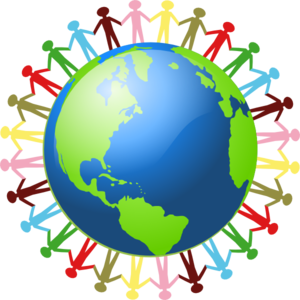 World clipart happy world. People of the