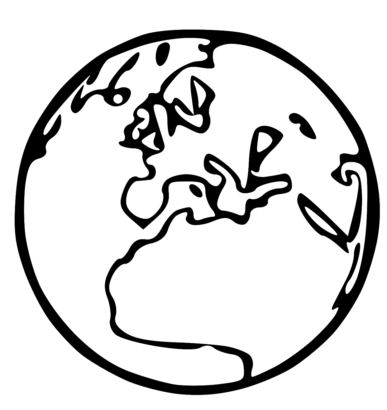 World clipart line art. Free lds to color