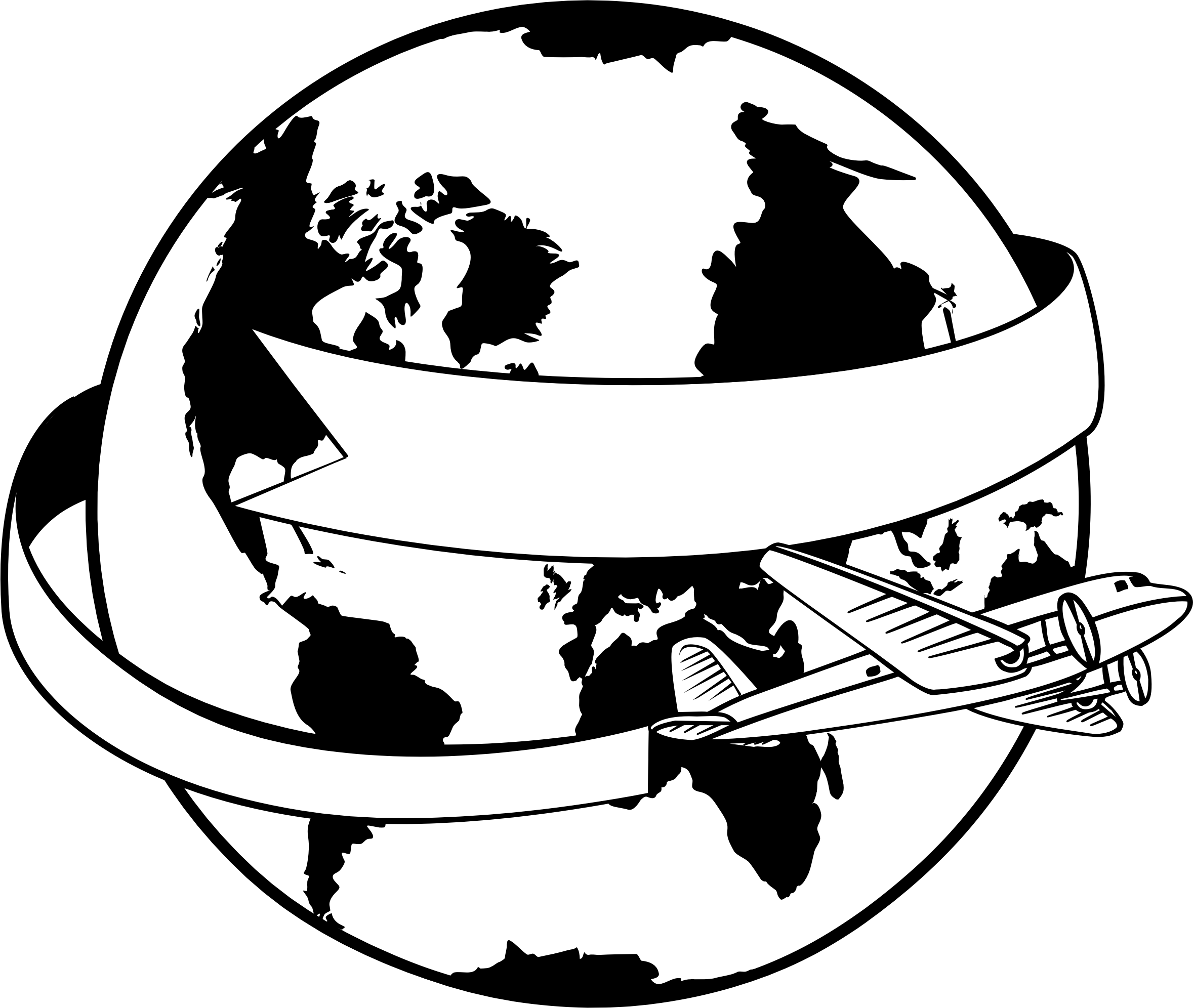 World drawing png. Earth airplane globe clip