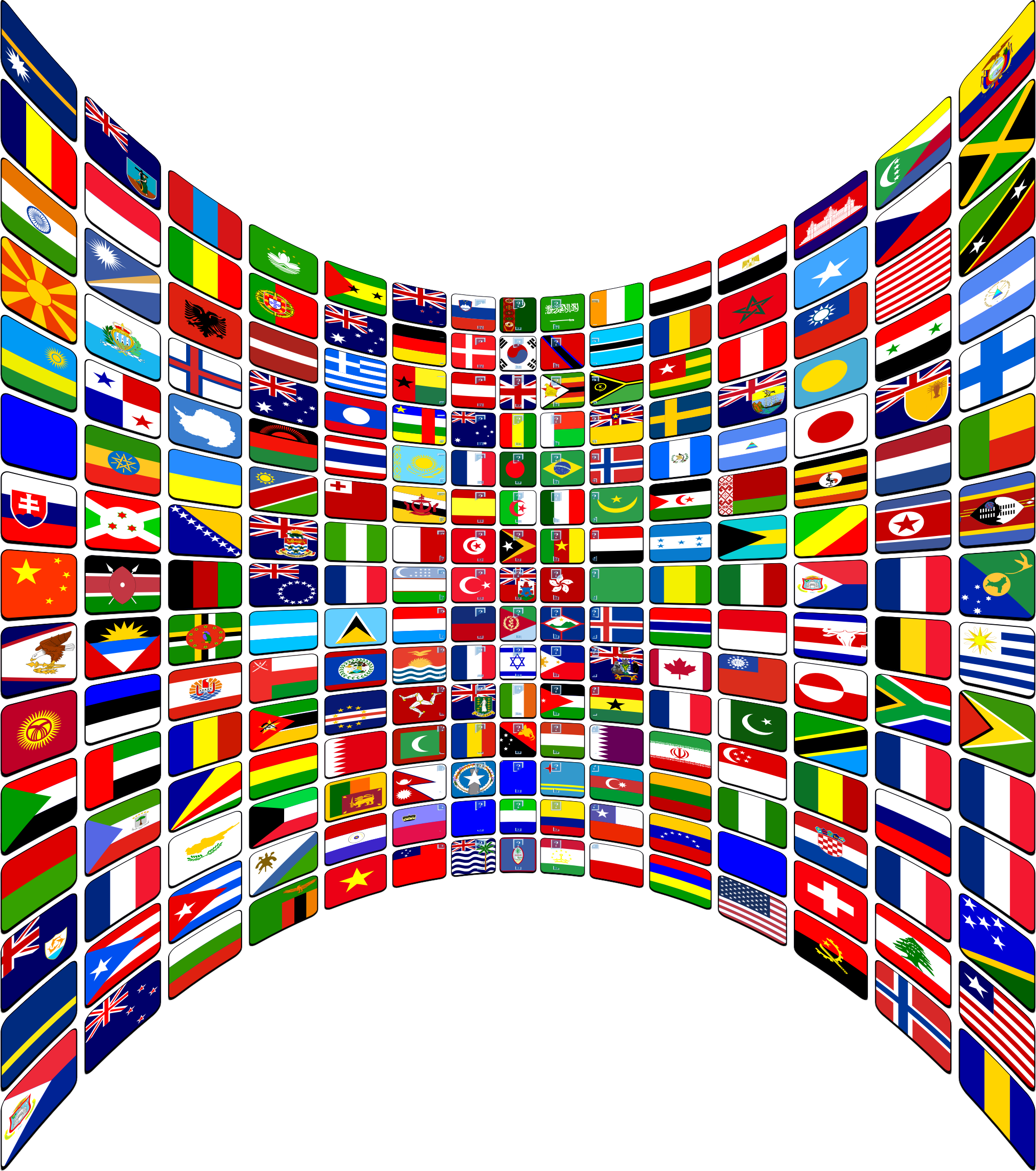 World flags png. Flag buttons perspective icons