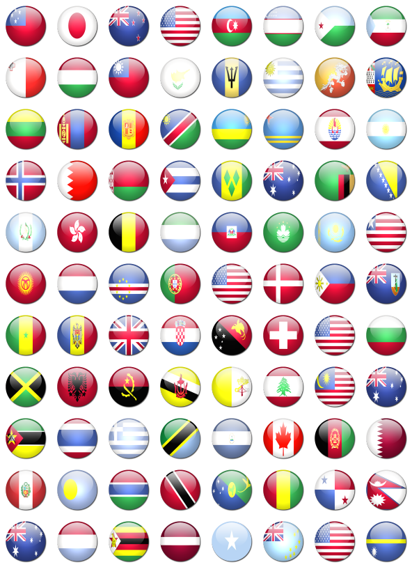 World flags png. Rounded free icons icon