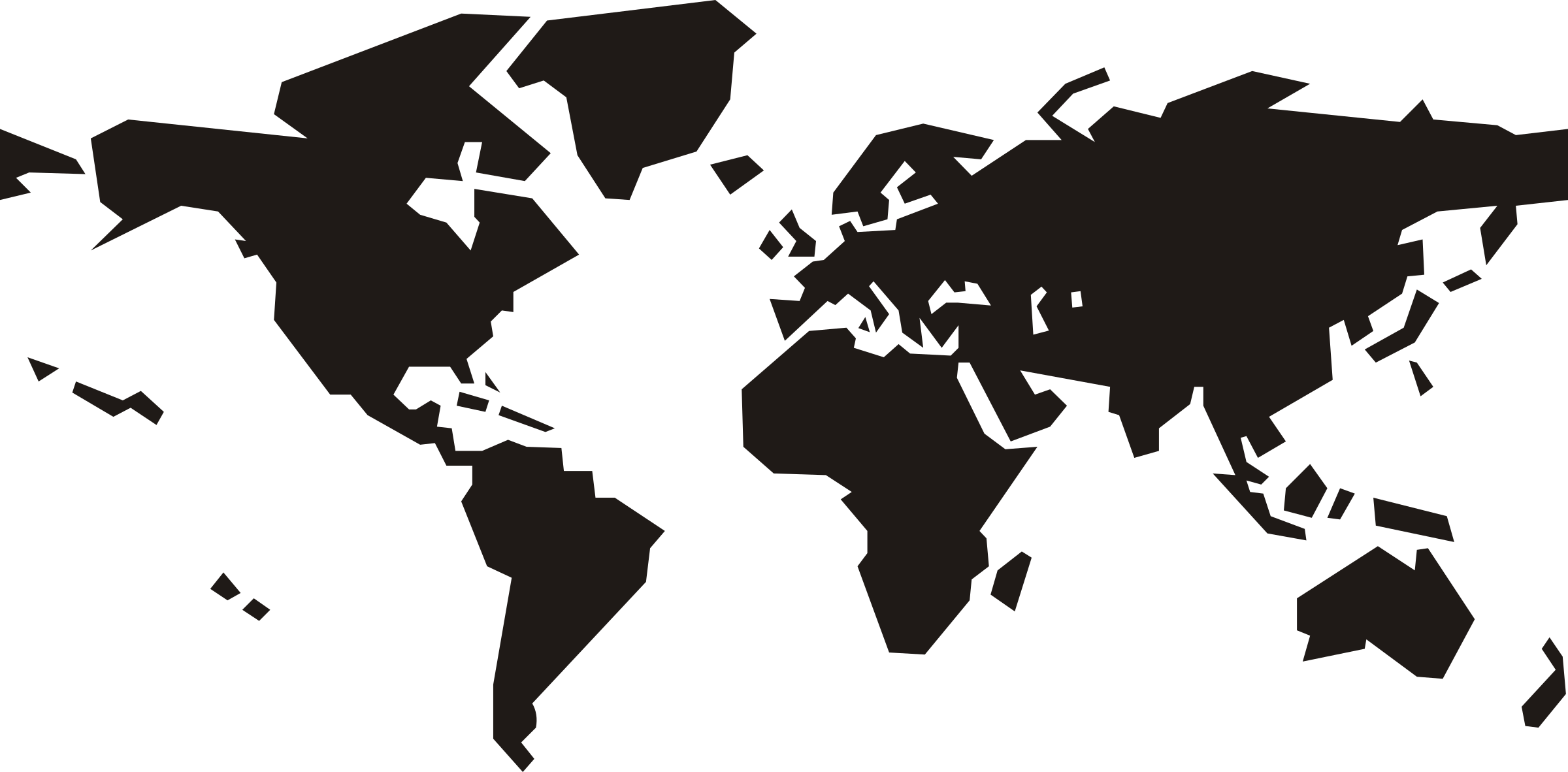 World map black and white png. Clipart big image
