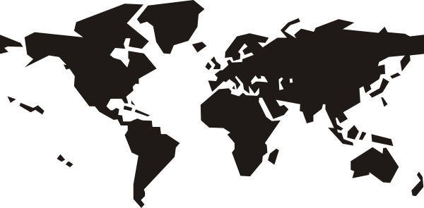 World map black and white png. Clip art at clker