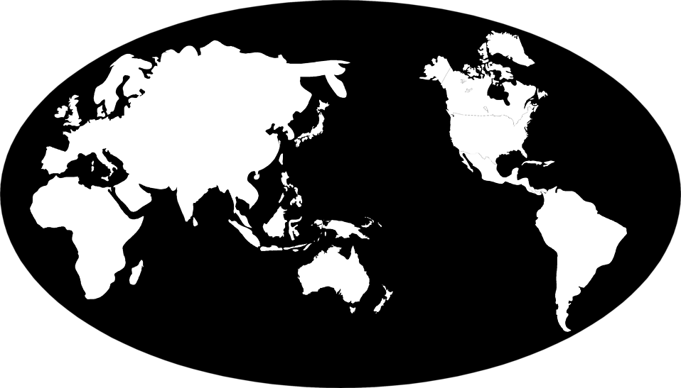 World map black and white png. Maps free stock photo
