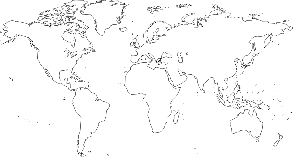World map blank png. Large clip art at