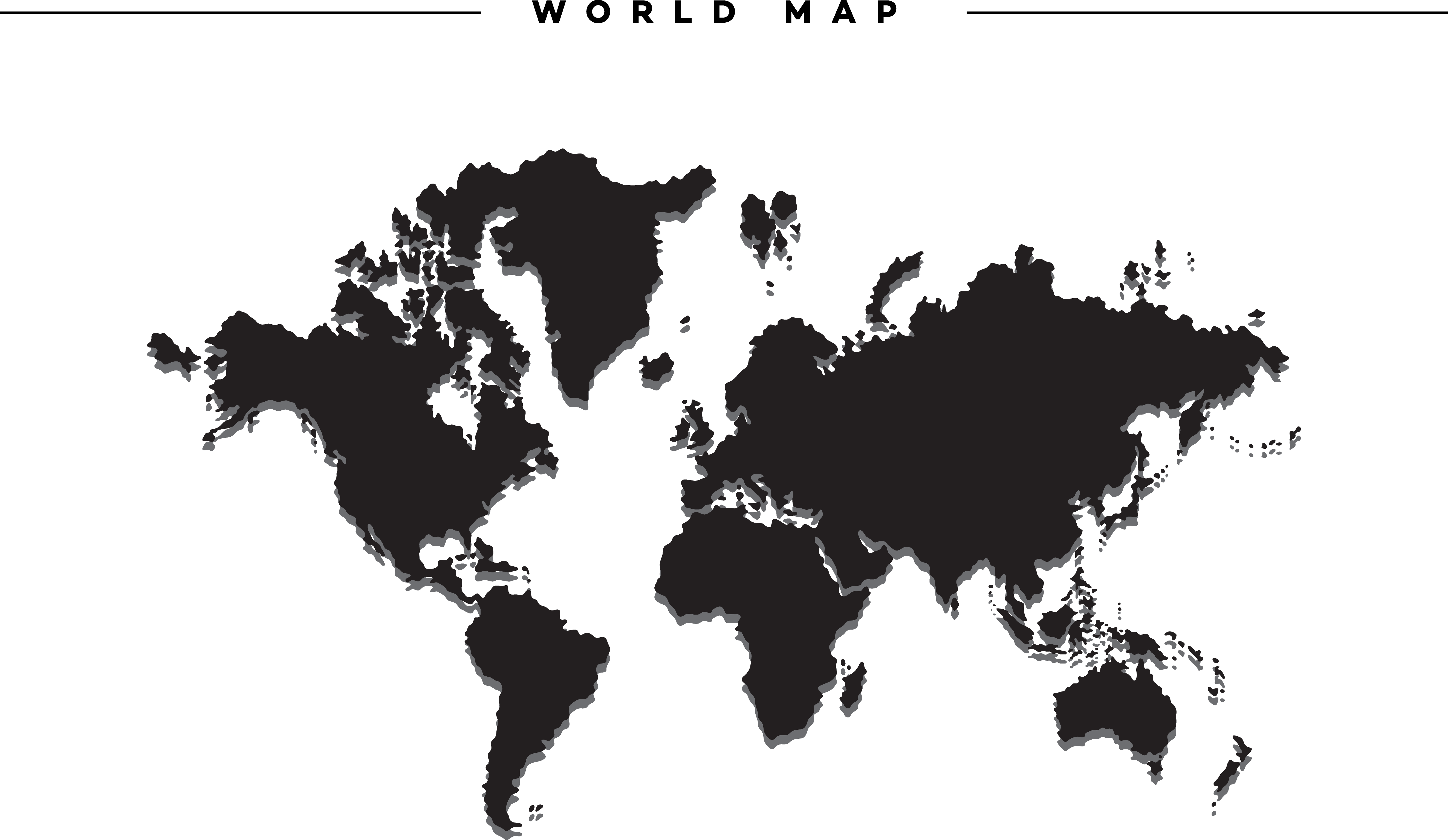 Map Of World Silhouette.World Map Silhouette Transparent Png Clipart Free Download Ya