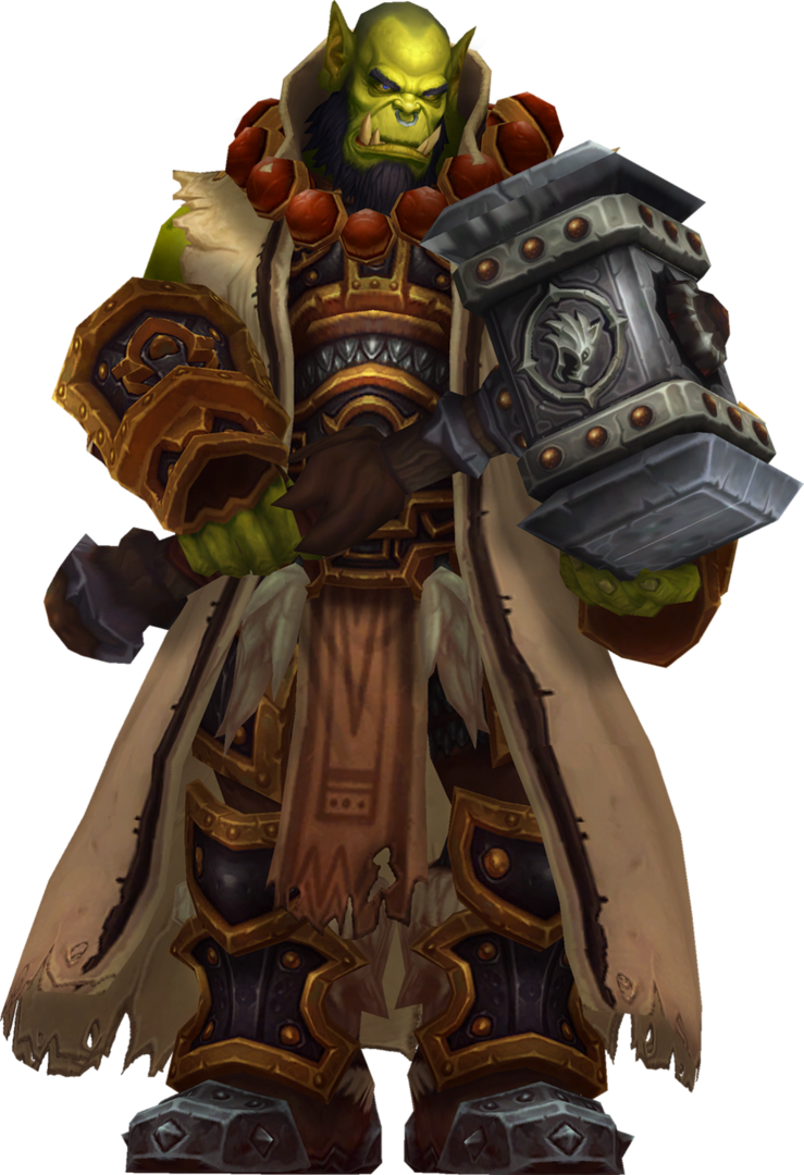World of warcraft character png. Thrall son durotan pinterest