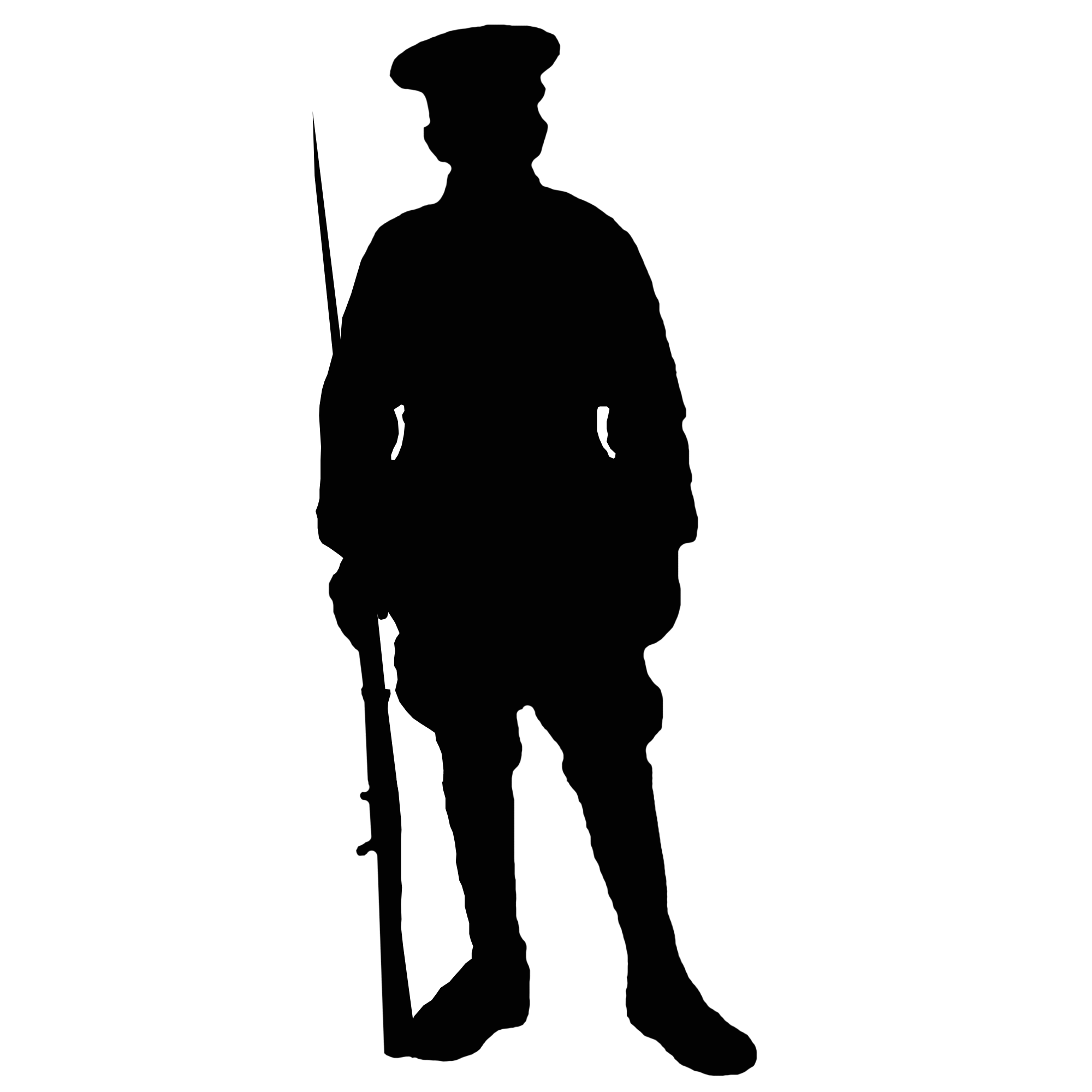Soldier silhouette png. World war at getdrawings