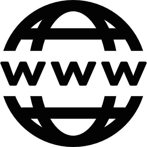 Web png icon. World wide free technology