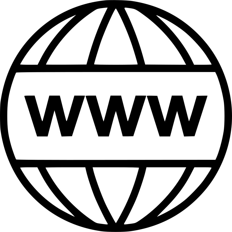 World wide web png. Www svg icon free