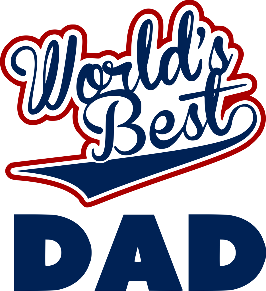 Worlds best dad png