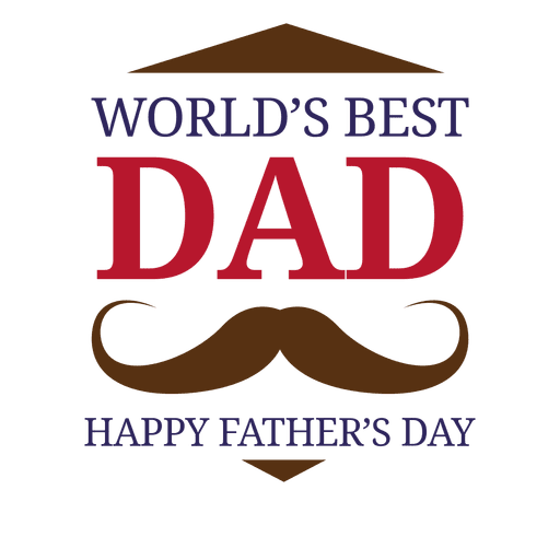Best dad ever design png. Fathers day worlds badge