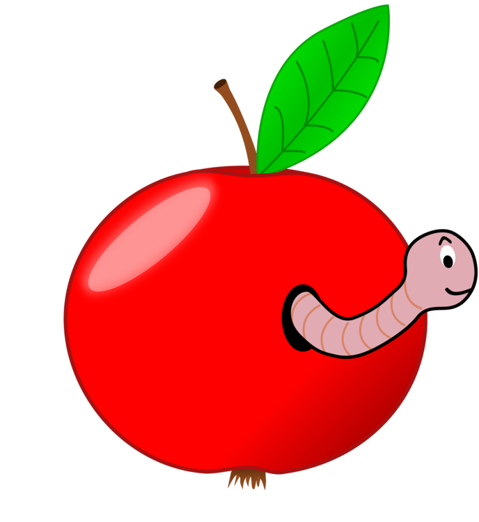 Worm clipart apple. Download computer icons fruit