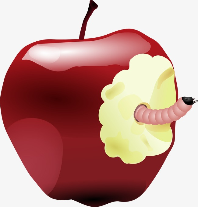 Worm clipart apple. Red decoration png image