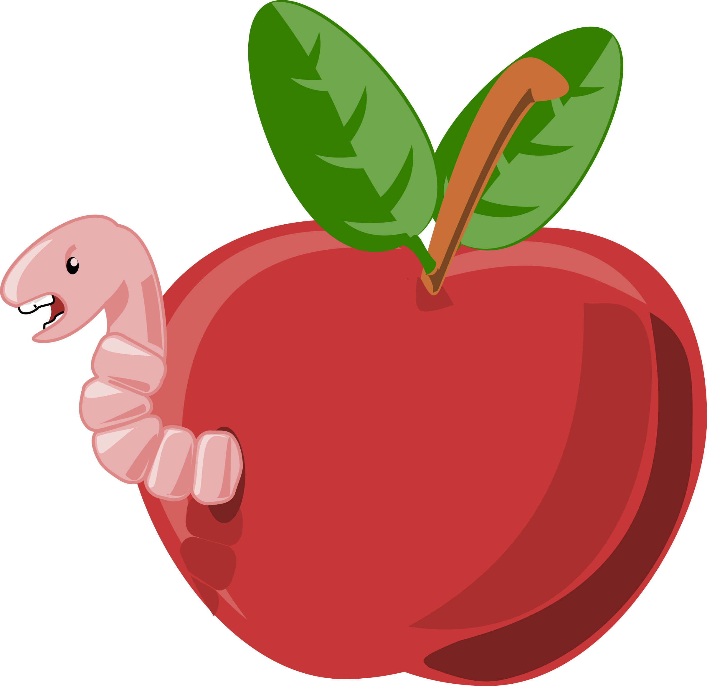 Worm clipart apple. Rg cartoon with of