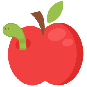 Worm clipart apple. Daily freebies miss kate