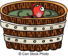 Worm clipart bait bucket. Red fish and a black and white