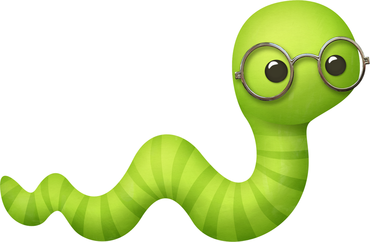 Worm clipart cute. Kaagard storytime bookworm png