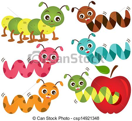 A colorful theme of. Worm clipart cute svg black and white library