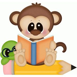Monkey reading book pnc. Worm clipart silhouette graphic library stock