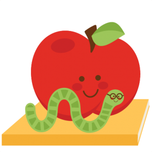 With bookworm available for. Worm clipart apple png library library