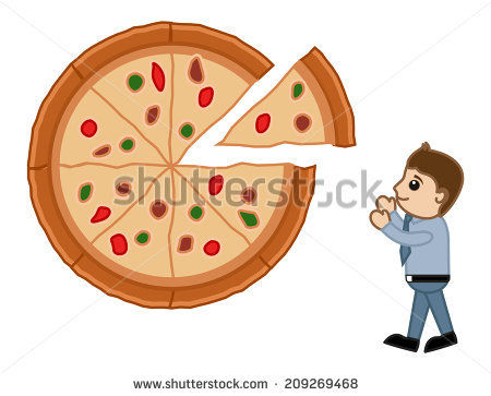 Looking pizza cartoon vector. Worm clipart tener hambre image black and white download