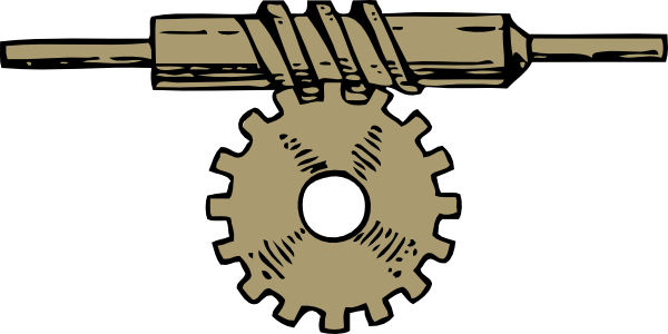 Worm clipart two. Machine gears banner