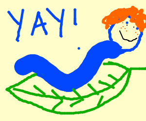 Worms clipart ginger. Happy blue worm drawing