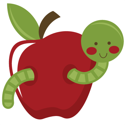 In apple svg file. Worm clipart silhouette vector