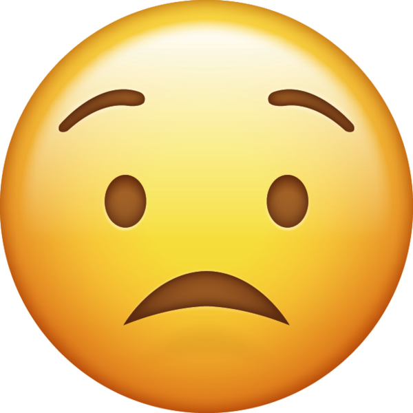 Worried emoji png. Download iphone icon in