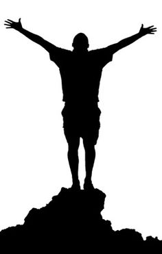 Worship clipart silhouette. Vectors of happy kid