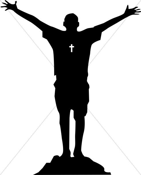 Worship clipart silhouette. Group at getdrawings com