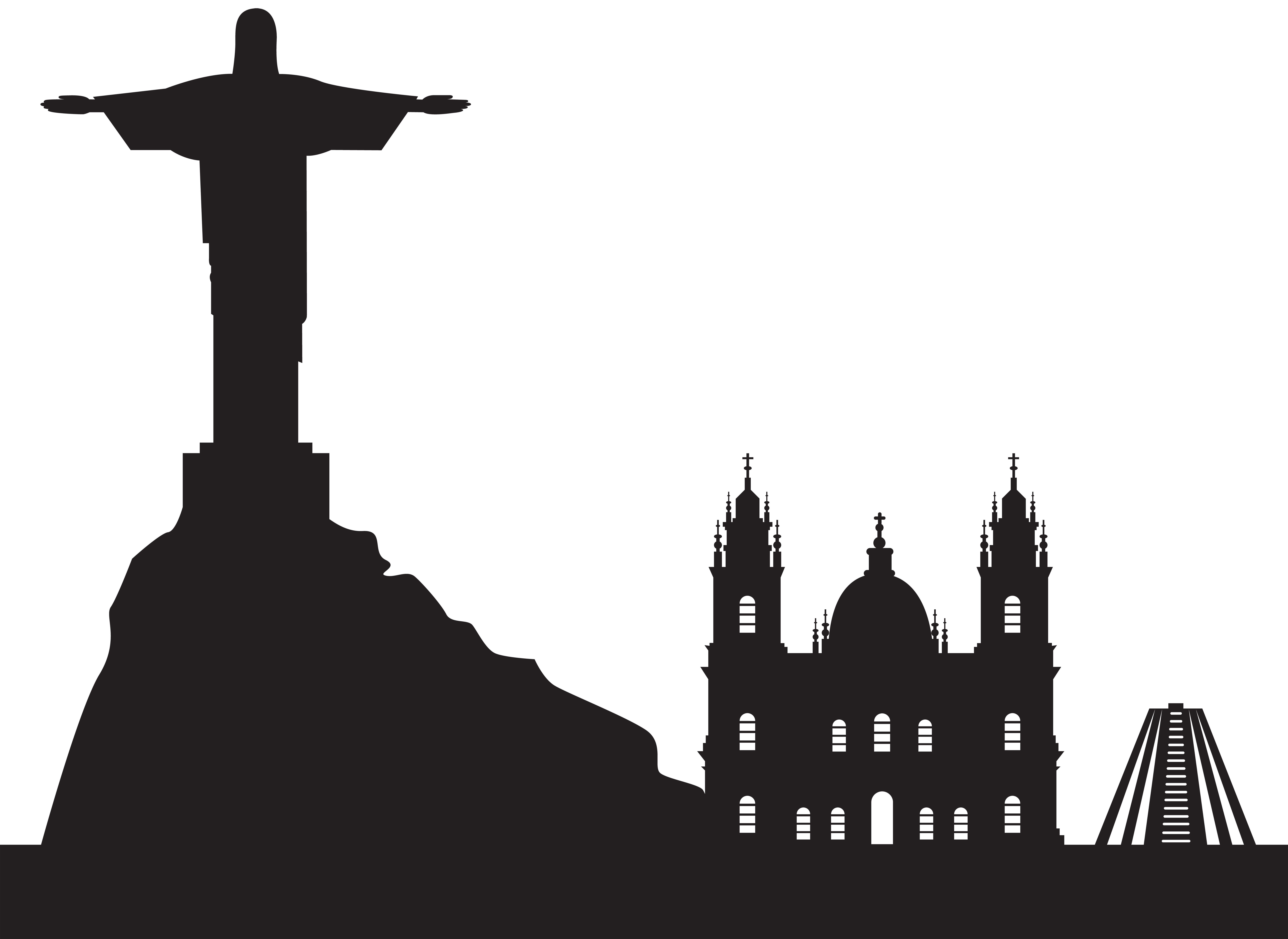 Brazil silhouette png art. Rio clip png library download
