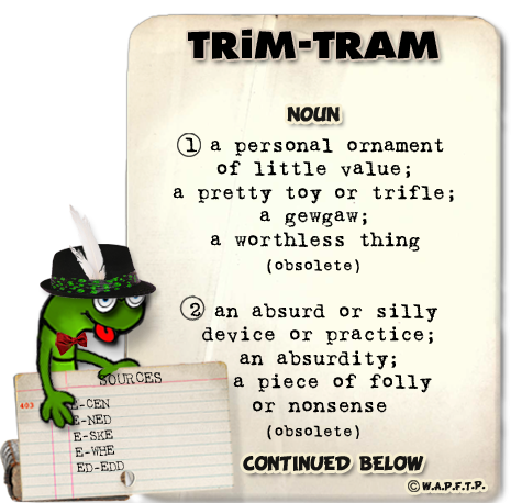 Worthless definition png. Trim tram definitions continued