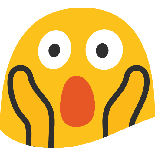 Wow clipart emoji facebook. Face screaming in fear