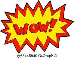Wow clipart outburst. Vector illustration comic sound